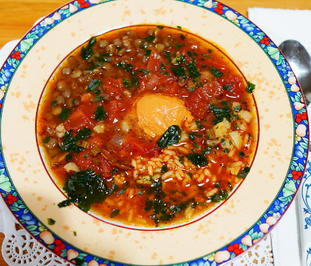 Reissuppe mit Linsen – Minestra di riso - Rezept - Bild Nr. 2