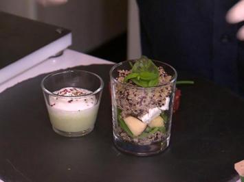 Quinoa Salat, Gurken-Wacholder Suppe und Asiatisches Rindertartar - Rezept - Bild Nr. 2