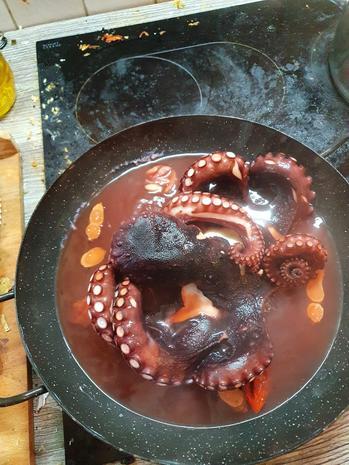 Oktopus-Gröstl / Pulpo-Gröstl  a la Mälzer - Rezept - Bild Nr. 4