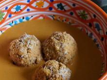 Hirse-Bällchen in cremiger Sauce - Rezept - Bild Nr. 2