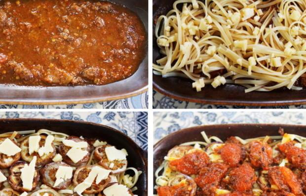 Italienischer Nudelauflauf mit Auberginen und Tomaten - Rezept - Bild Nr. 10