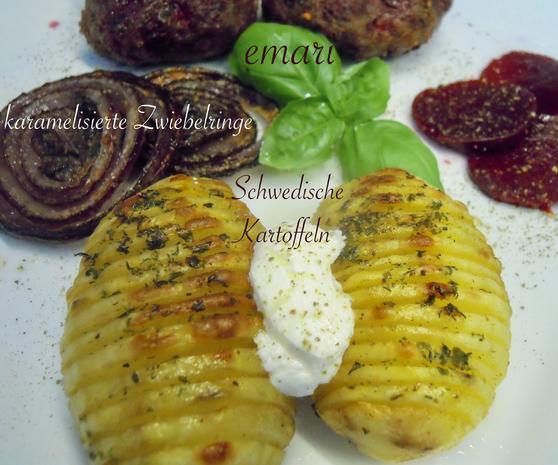 Schwedische Kartoffeln und gebackene Zwiebelringe - Rezept - Bild Nr. 2