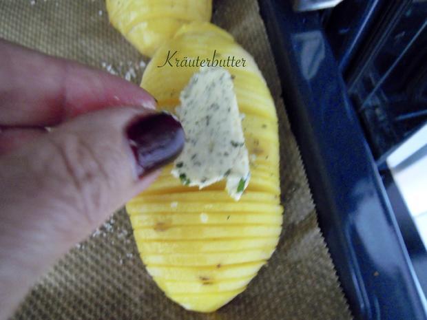 Schwedische Kartoffeln und gebackene Zwiebelringe - Rezept - Bild Nr. 9