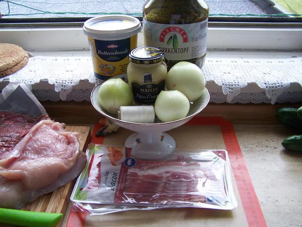 Rouladen-Rollbraten mit Kartoffelstampf +Gurkensalat - Rezept - Bild Nr. 10914