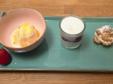 Salz-Karamell-Eis mit Windbeuteln und Quarkspeise - Rezept - Bild Nr. 2