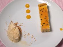 Passionsfrucht-Tarte mit Tonkabohnen-Eis - Rezept - Bild Nr. 2