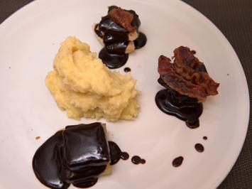 Dreierlei Fleisch-Dominosteine an Pastinaken-Kartoffel-Stampf - Rezept - Bild Nr. 2