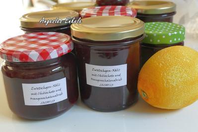 Zwetschgen-Marmelade mit Chilischote und Orangenschale - Rezept - Bild Nr. 7
