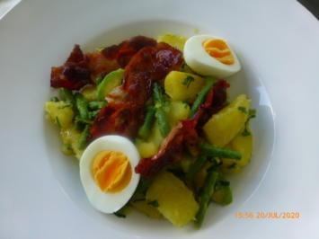 Rezept: Eier - Kartoffel - Salat mit Bacon