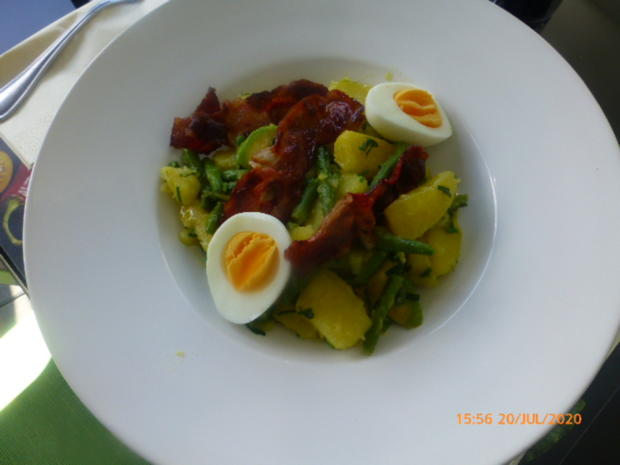 Eier - Kartoffel - Salat mit Bacon - Rezept - Bild Nr. 6