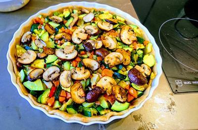 Rezept: Zucchini-Speckquiche