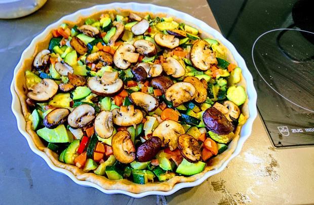 Zucchini-Speckquiche - Rezept - Bild Nr. 2