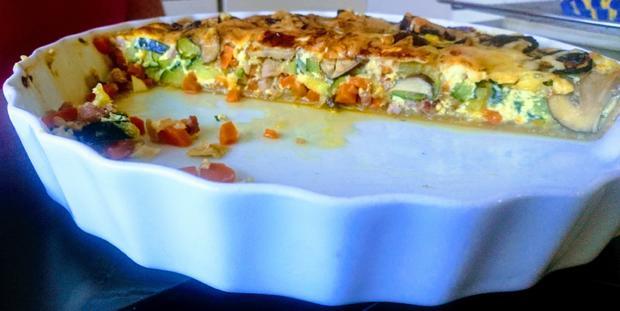 Zucchini-Speckquiche - Rezept - Bild Nr. 3
