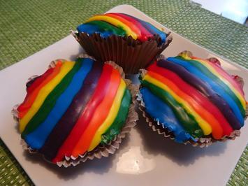 Rainbow-Schoko-Muffins - Rezept - Bild Nr. 2