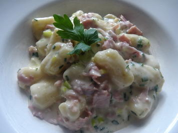 Gnocchi in Käse-Sahnesoße mit Schinken - Rezept - Bild Nr. 2