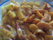 Ente süß-sauer mit Mango-Ananas-Soße und Wedges - Rezept - Bild Nr. 2