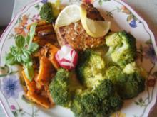 Schlemmerfilet mit Brokkoli und Süßkartoffelspalten - Rezept - Bild Nr. 2