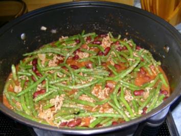 Rot-Grüner Bohneneintopf - Rezept