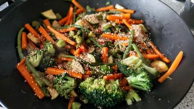 Rezept: Beilage - Gemüse aus dem Wok