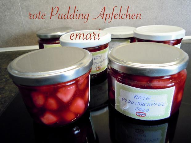 rote Pudding Äpfelchen - Rezept - Bild Nr. 2