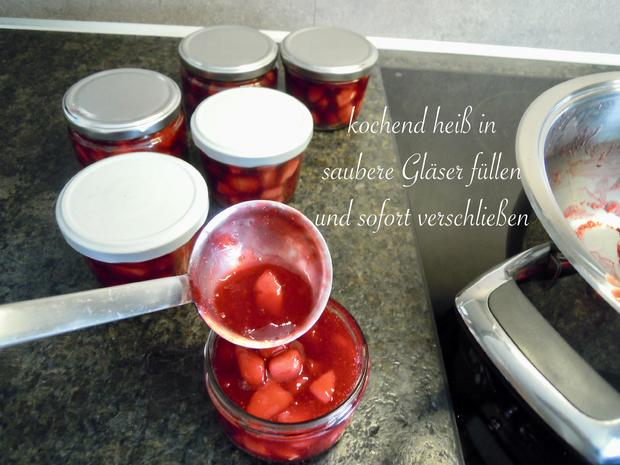 rote Pudding Äpfelchen - Rezept - Bild Nr. 8