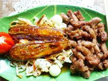 Zweigesichtige Nudeln mit Auberginen und Schweinefleisch - Rezept - Bild Nr. 2