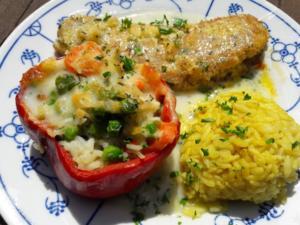 Paprika mit Gemüse-Reis-Füllung - Rezept - Bild Nr. 2