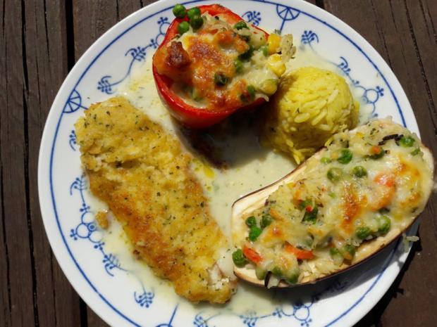 Paprika mit Gemüse-Reis-Füllung - Rezept - Bild Nr. 3