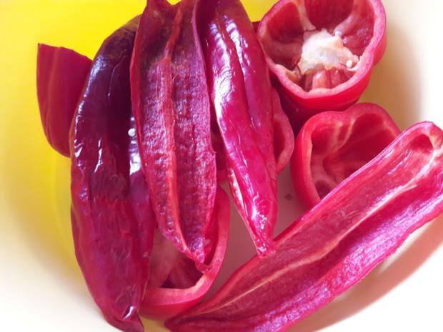 Paprika mit Gemüse-Reis-Füllung - Rezept - Bild Nr. 7