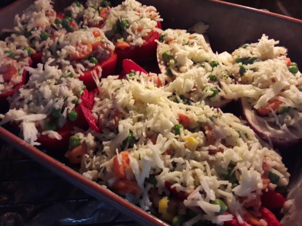 Paprika mit Gemüse-Reis-Füllung - Rezept - Bild Nr. 13