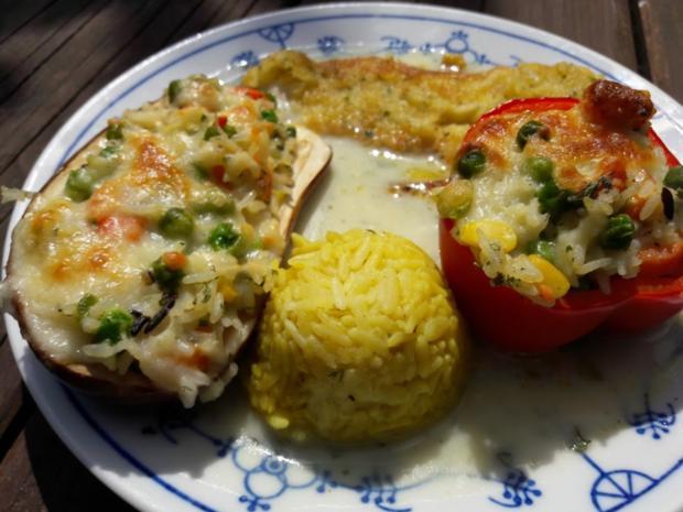 Paprika mit Gemüse-Reis-Füllung - Rezept - Bild Nr. 16