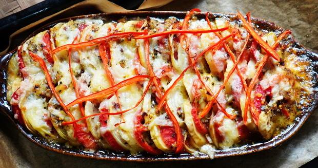 Italienische, überbackene Kartoffeln - Patate al forno - Rezept - Bild Nr. 2