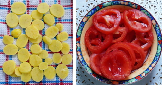 Italienische, überbackene Kartoffeln - Patate al forno - Rezept - Bild Nr. 3