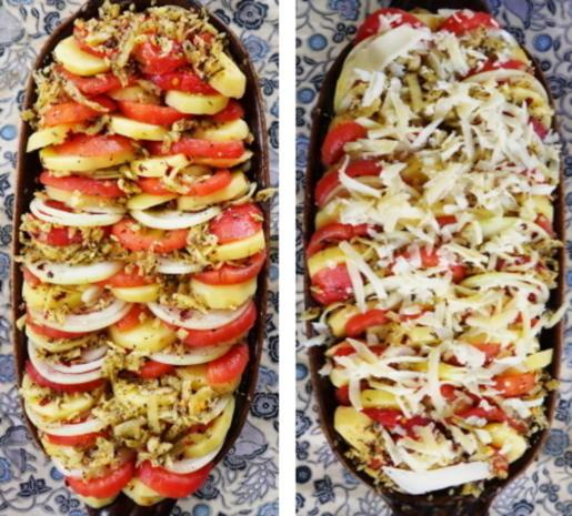 Italienische, überbackene Kartoffeln - Patate al forno - Rezept - Bild Nr. 7