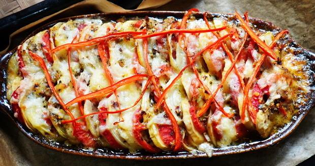 Italienische, überbackene Kartoffeln - Patate al forno - Rezept - Bild Nr. 8