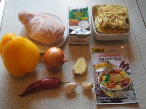 Rotes Thai-Curry mit Mie-Nudeln - Rezept - Bild Nr. 4