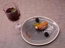 Cannoli siciliani mit Brombeer-Vanille-Minz-Granita - Rezept - Bild Nr. 2