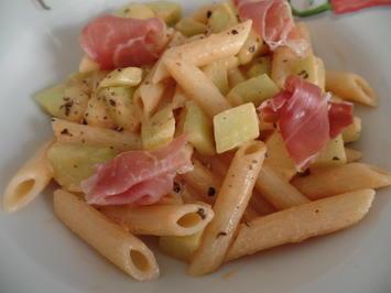Penne mit Melone und Parmaschinken - Rezept - Bild Nr. 11024