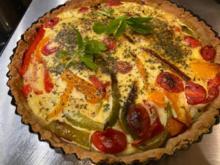 Sommerliche Quiche mit Paprika und Tomaten - Rezept - Bild Nr. 2