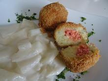 Gefüllte Kartoffelklöße mit Rahmkohlrabi - Rezept - Bild Nr. 2