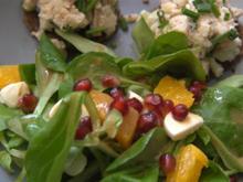 Geräuchertes Forellen-Tatar auf Pumpernickel-Taler mit frischem Granatapfel-Salat - Rezept - Bild Nr. 4