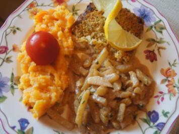 Schlemmerfilet mit herzhaften Kohlrabi-Gemüse und Möhren-Kartoffel-Stampf - Rezept - Bild Nr. 2