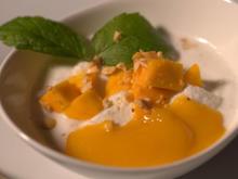 Halbgefrorene Kokoscreme mit Mango - Rezept - Bild Nr. 3