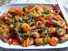 Potpourri mit Rindfleisch, knusprigen Nudeln und Gemüse - Rezept - Bild Nr. 2