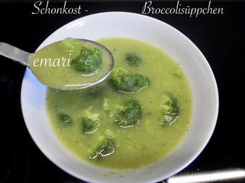 Rezept: Schonkost - Broccoli Süppchen