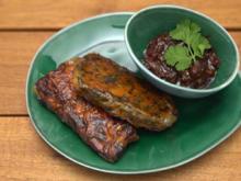 Samosa Butter Chicken und Moroho mit Chili Coriander Jam - Rezept - Bild Nr. 2