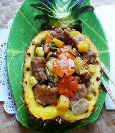 Zartes, würziges Schweinefleisch mit Ananas-Cap Cay - Rezept - Bild Nr. 2