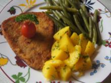 Schnitzel Toskana mit Buschbohnen und Petersilienkartoffeln - Rezept - Bild Nr. 2