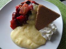 Frucht-Grütze mit Eierlikör-Buttermilch-Creme - Rezept - Bild Nr. 2