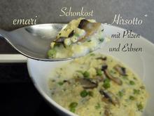 """Schonkost - """"Hirsotto"""" mit Pilzen und Erbsen - Rezept - Bild Nr. 11132"""